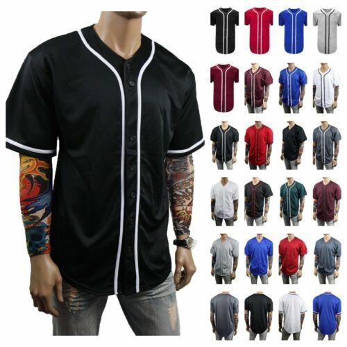 Men Baseball Jersey Team T-Shirt Uniform Sports Raglan Fashion Hipster Casual