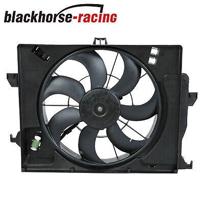 AC Condenser Radiator Cooling Fan Fit 2012-2018 Kia Rio/2012-2017 Hyundai Accent