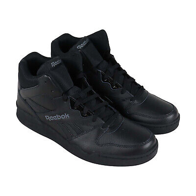 Reebok Royal Bb4500 Hi2 Mens Black Leather Low Top Sneakers Shoes