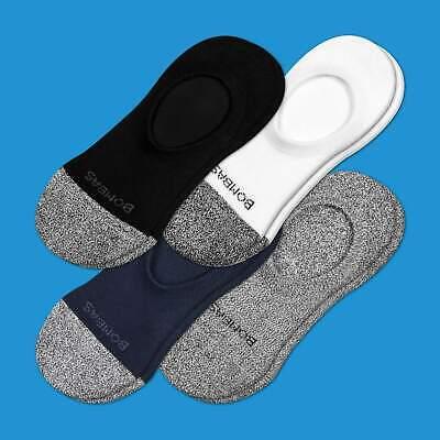 4-Pack Bombas Men Women Unisex ~ NO SHOW ~ Socks Size 9-15 Large NWT