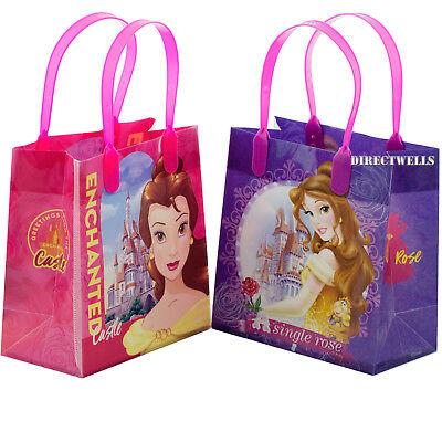 Disney Princess Belle Licensed Reusable Small Party Favor Goodie 6 Bags  - Disney Princess Goodie Bags