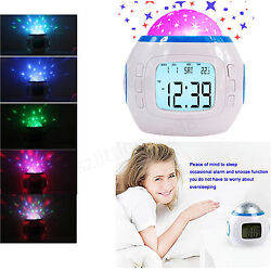 Multifunction Digital LCD Alarm Clock LED Projection Temperature for Kids Gifts