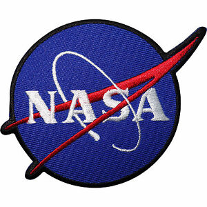 nasa embroidered iron sew on patch astronaut fancy dress