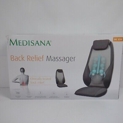 Medisana Back Massager Chair Cushion Deep Kneading Shiatsu Full Shoulders *NEW*