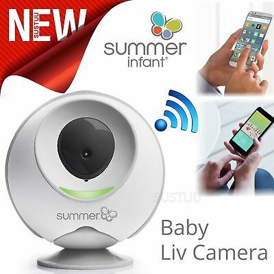 Summer Infant Liv Cam│Baby Live Audio Video│Pair with Major Smart Device│76m