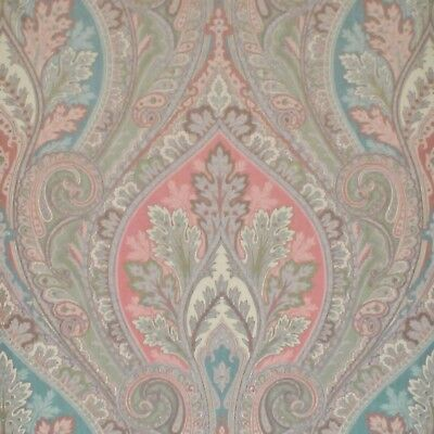 Aqua Silk Print Upholstery Fabric fr Italy R$484y Clarence House Bellini CL Teal