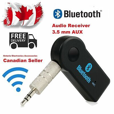 Wireless Bluetooth Adapter 3.5mm Aux Audio Music Home Receiver Stereo Car Mic