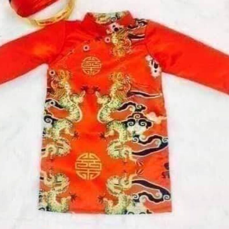 Useful New Vietnamese Chinese Traditional Dress For Kids Boys Ao Dai Tre Em Tet Viet Clothing, Shoes & Accessories