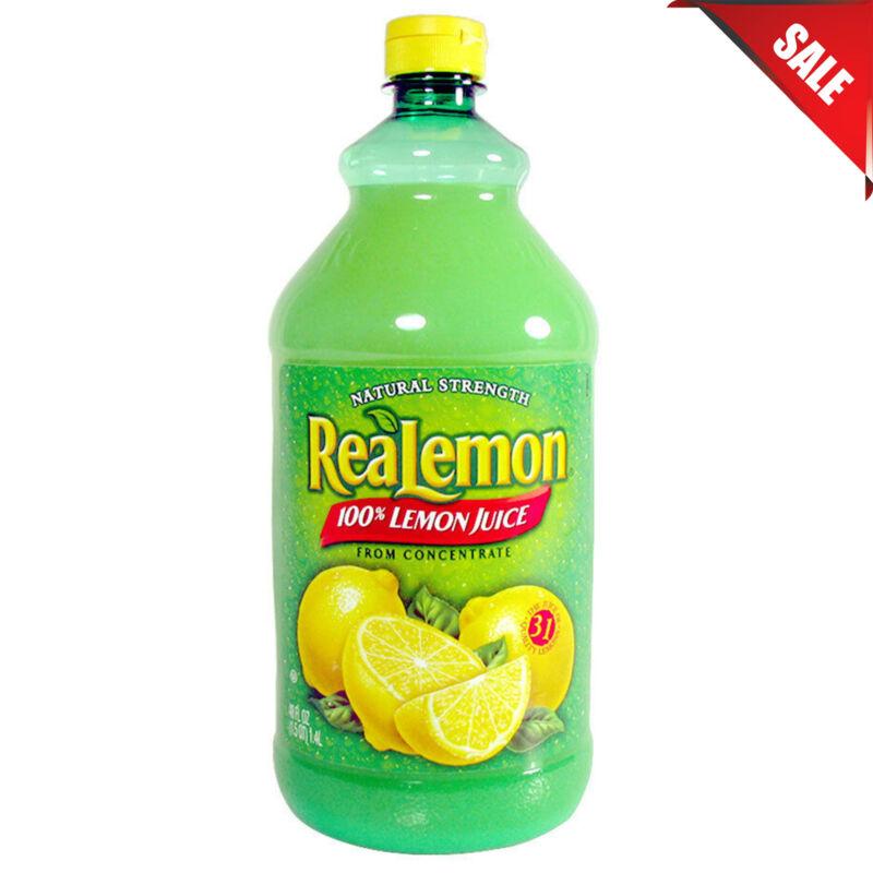 (CASE OF 8)  48 oz. Bottles ReaLemon 100% Lemon Juice Bulk FAST SHIPPING New