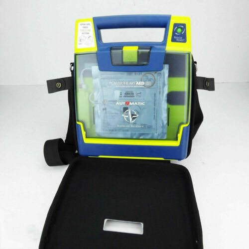 Cardiac Science Powerheart G3 Plus AED Automatic w/ Battery, Pads & Case