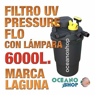 FILTRO PRESSURE FLO UV LAGUNA - 6000lts estanque peces jardín estanques calidad