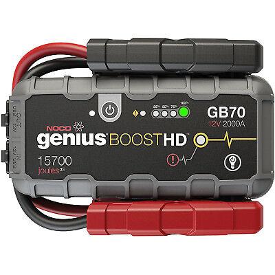 (NOCO GB70 Genius Boost HD 2000 Amp 12V Gas/Diesel UltraSafe Lithium Jump Starter)