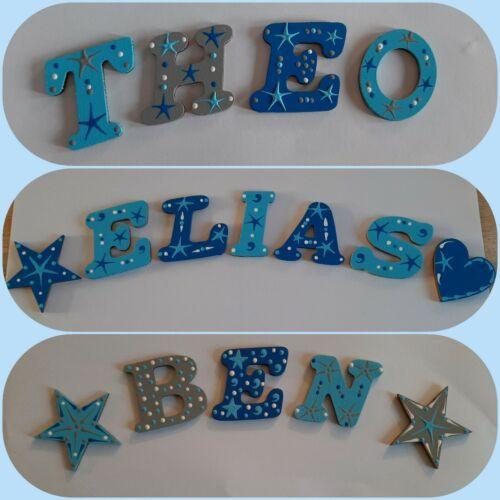 Buchstaben Kinder Name Baby Holzbuchstaben Tür Wand Türschild Kinderzimmer s1