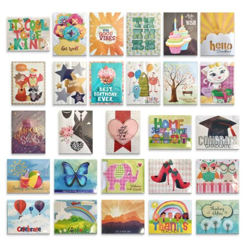 35 All Occasion Greeting Cards Asst Handmade Boxed Set Embellished Unique Design