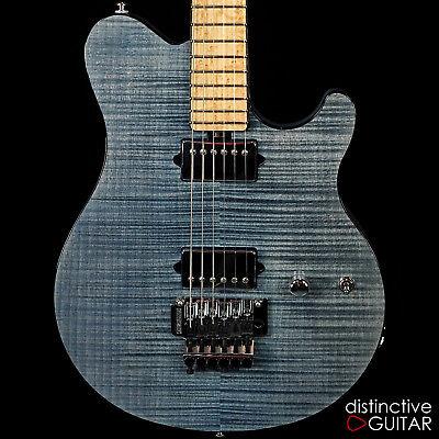 NEW ERNIE BALL MUSIC MAN AXIS BFR LIMITED GUITAR #46 STEEL BLUE FLAME TOP FLOYD