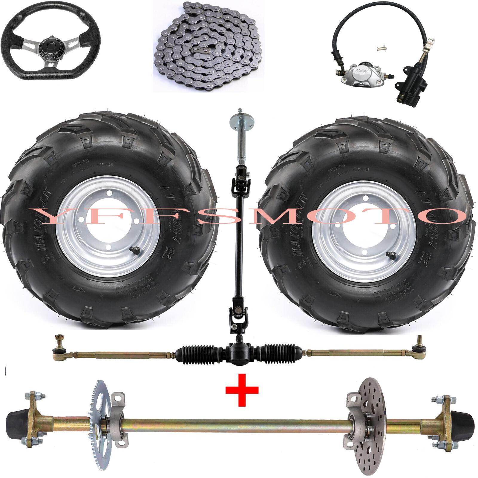 "32"" Drift Trike Rear Axle Hub+Steering +16X8-7 7"" Rim Tire A"