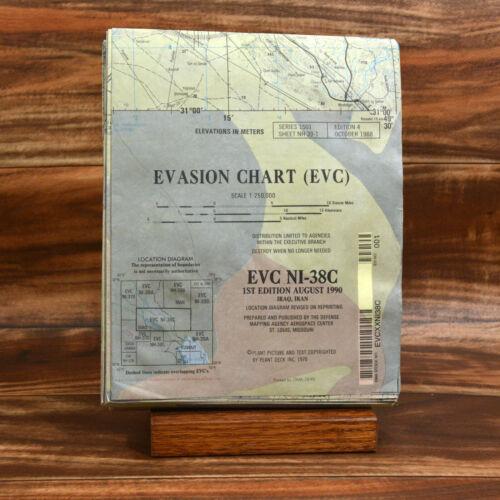 EVC NI-38C IRAQ, IRAN EVASION CHART (EVC) Printed by DMA 10-95 1990 1ST EDITION