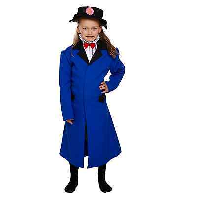 Mary Poppins Victorian Nanny Girl Fancy Dressing Up Costume Pretty Outfit Movie ()