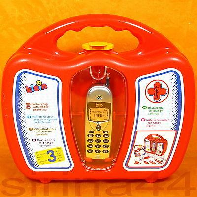 Kinder - Arztkoffer mit Zubehör 18tlg f. d. Puppendoktor m.Handy f. Notrufe EN71