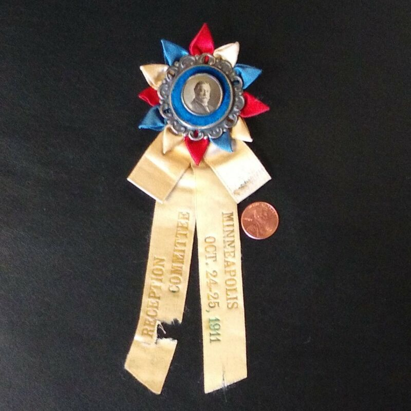 William Howard Taft Reception Committee Ribbon Pin Button 1911 Minneapolis Rare!
