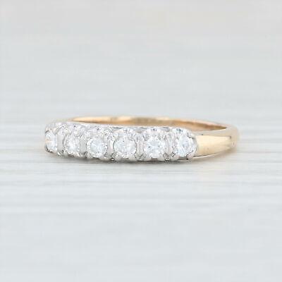 26ctw Diamond Wedding Ring 14k Yellow & White Gold Size 6.25 Women's Band