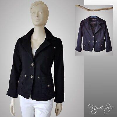 Damen Blazer ** Jäckchen Jackett Jacke Damenjacke Vintage  Gr.XL schwarz - 202