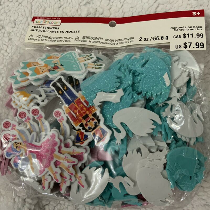 Creatology Christmas Craft Nutcracker Ballet Mixed Foam Stickers New In Package
