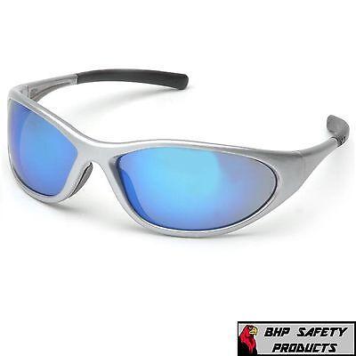 Pyramex Zone Ii Safety Glasses Ice Blue Mirror Lens Sunglasses Ss3365e Z87