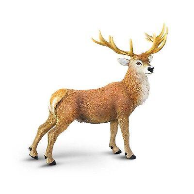 Red Deer Buck Wild Safari Animal Figure Safari Ltd NEW Toy Educational