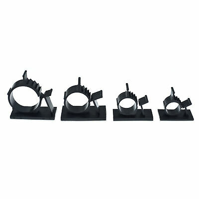 25 Adhesive Cable Clip Tie Wire Zip Cord Clamp Mount Holder 0.5 0.6 0.85 1.0