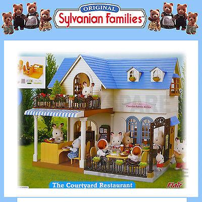 Kupit New Sylvanian Families The Courtyard Restaurant Dollhouse 40