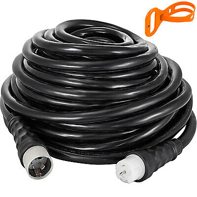 Generator Power Cord 100ft 50 Amp Locking Male Plug To Cs6364 Locking Connector