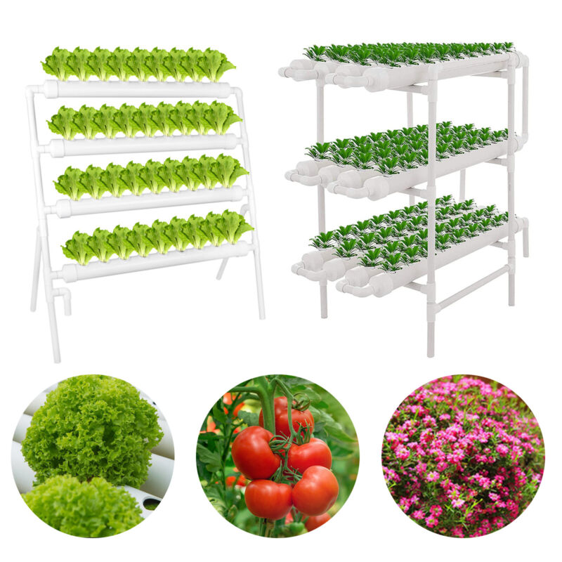 Hydroponic Site Grow Kit 108 Planting Sites Garden Plant System Vegetable Tool