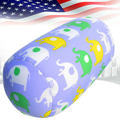 Microbead Sleep Neck Support Pillow Back Cushion Roll Throw Pillow For Travel