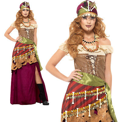 Voodoo Priestess Costume Halloween Womens Ladies Adult Fancy Dress Outfit - Voodoo Costume