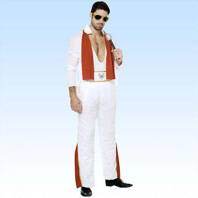 Kostüm Elvis Gr. 50-54 Sänger Pop King Verkleidung Musik VIP - Sänger Kostüm