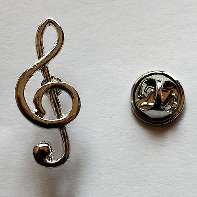 Violinschlüssel Anstecknadel / Notenschlüssel Pin treble clef music Button Badge