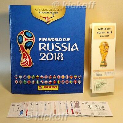 PANINI World Cup. Russia 2018. 100 stickers + Empty Album. Unique Checklist