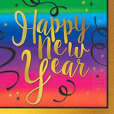 Colorful New Year Beverage Napkins-36 count Value Pack-NEW