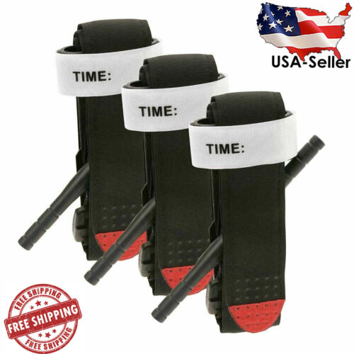 3 Pcs Tourniquet Rapid One Hand Application Emergency Outdoor First Aid Kit Us