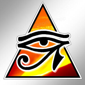 EYE OF Horus GLD CAR Bumper Sticker Pagan Illuminati ... Eye Of Horus In Triangle