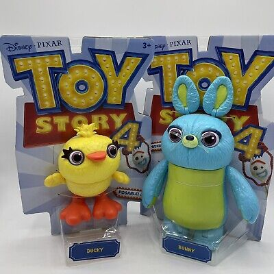 """Disney Pixar Toy Story 4 Movie Articulated Action Figure 9"""" Bunny & Ducky"""