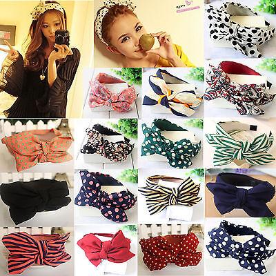 Hot Lady Girls Cute Sweet Big Bow Headband Hair Band Headwear Hair Accessories (Big Bow Headbands)