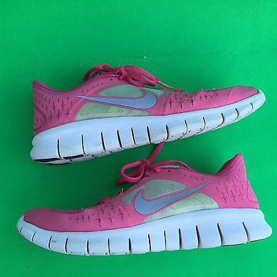 92f6492e77 NIKE FREE RUN3 girl's fashion running walking mesh lightweight shoes size-- 5.5Y