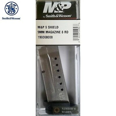 Smith & Wesson M&P SHIELD MAGAZINE 9mm 8 Rounds 19936 S&W FAST SHIP