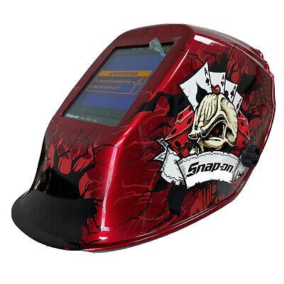 Snap-on Welding Helmet Full Shield Ya4606 Eye Gear Adjust Skull Dice Red Black