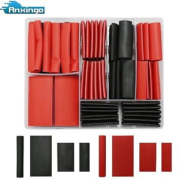 74pcs 31 Heat Shrink Tubing Insulation Shrinkable Tube Black Red