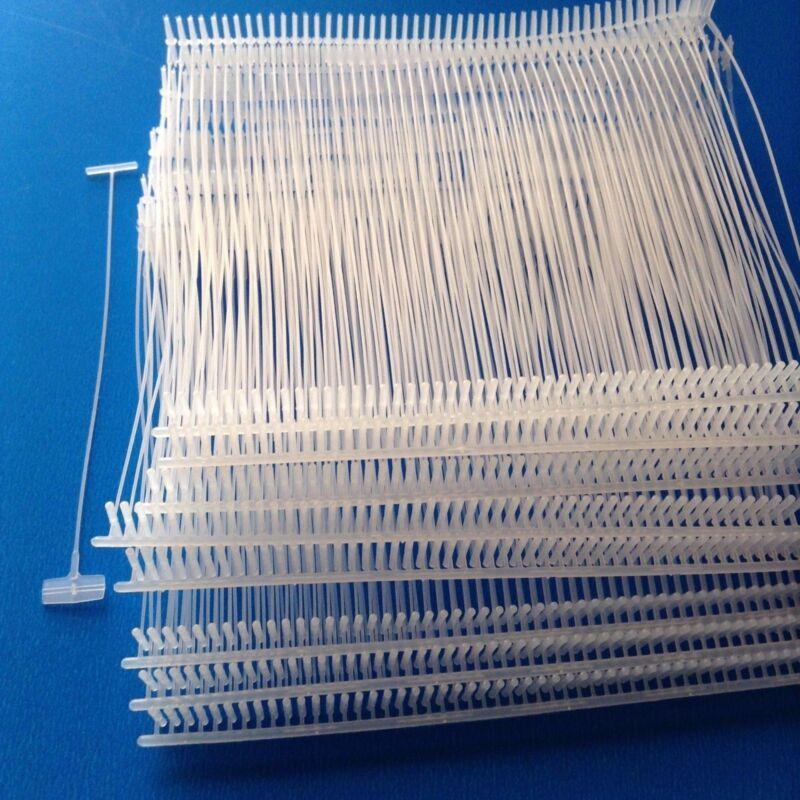 """1000pcs 3"""" Clear Standard Tag Pins Regular Tag Barbs Tagging Gun Fasteners"""