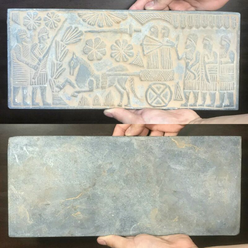 Mesume Quality Ancient Greek Old Stone Warrior Big Relief Plaque With Archers