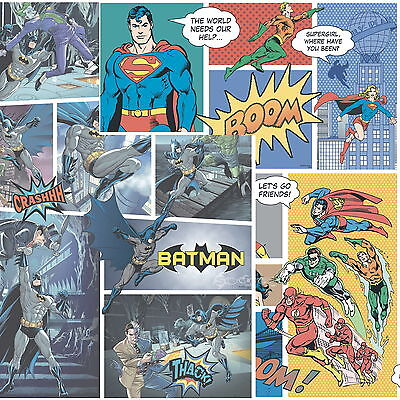 DC Comics Batman Justice League 10m Wallpaper Kids Bedroom Flash Superman](Dc Comics Batman Wallpaper)